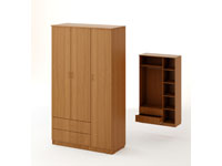 Шкаф распашной 3-х створчатый с 2 ящиками