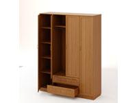 Шкаф распашной 4-х створчатый с 2 ящиками Рамочный